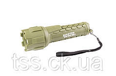 Ліхтар водонепроникний, 180*55 мм, CREE LED, IP66, 2 x AA, PP + PVC MASTERTOOL 94-0802