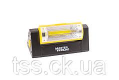 Ліхтар магнітний з регулюванням нахилу бічного світла, 125*52*52 мм, 6 x LED + COB LED, 4 x AAA MASTERTOOL