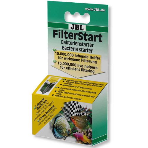 Рідкий препарат JBL FilterStart для активації нового фільтра в прісноводних і морських акваріумах, 10 мл