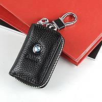 Чехол для ключей с карабином BMW  кожа  2856