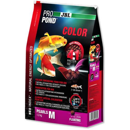 Корм JBL ProPond Color M для посилення забарвлення у вряди середнього розміру, 1.3 кг