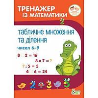 Тренажер із математики 2-4 клас: Табличне множення та ділення чисел 6-9