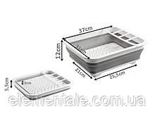 Силіконова складна сушарка органайзер для посуду та кухонних приладів