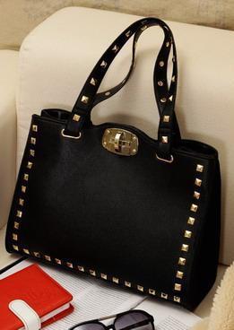 828fe87e Оригинальная модная стильная женская сумка с заклепками, черная ...