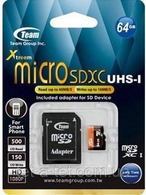 Карта памяти Goodram microSDXC 64GB UHS-I class 10 + adapter