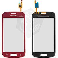 Touchscreen (сенсорный экран) для Samsung Galaxy Trend S7390, оригинал (красный la fleur)