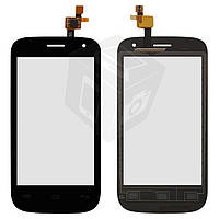 Touchscreen (сенсорный экран) для Fly IQ445 Genius, черный, оригинал