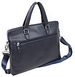 Жіноча ділова сумка, портфель з еко шкіри Villado синя, фото 2