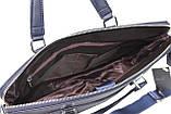 Жіноча ділова сумка, портфель з еко шкіри Villado синя, фото 4