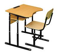 Комплект 1-местный антисколиозный регулируемая высота (0142+90295) Да, Да, Нет, 1, Нет, 1, Гелика, фанера, комплект ученический одноместный (стол + 1 стул), Черный