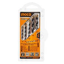 Набір свердел по цеглині/бетону 5 шт 4-10 мм INGCO