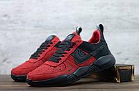 Чоловічі шкіряні кросівки демісезонні Червоні з чорним Nike, фото 1