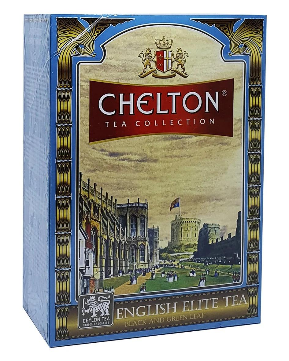 Чай ЧЕЛТОН, чорний та зелений, Елітний (English Elite Tea) 100г