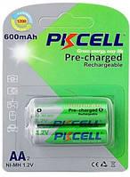 Аккумулятор PKCELL 1.2V AA 600mAh NiMH Already Charged, 2 штуки в блистере цена за блистер, Q12