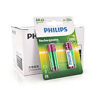 Аккумулятор Philips 1,2V Ni AA 2000-mAh Rechargeable Battery, 2 штуки в блистере, цена за блистер Q12