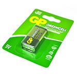 Батарейка солевая GP Greencell GP1604GLF-2UE1, 9V, крона, 10 (100шт.) х10(10шт.) х1 блистер цена за 1шт