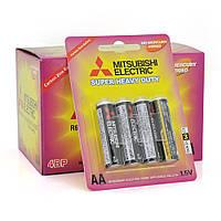 Батарейка Super Heavy Duty MITSUBISHI 1.5V AA/R6PU, 4pcs/card, 48pcs/inner box, 576pcs/ctn