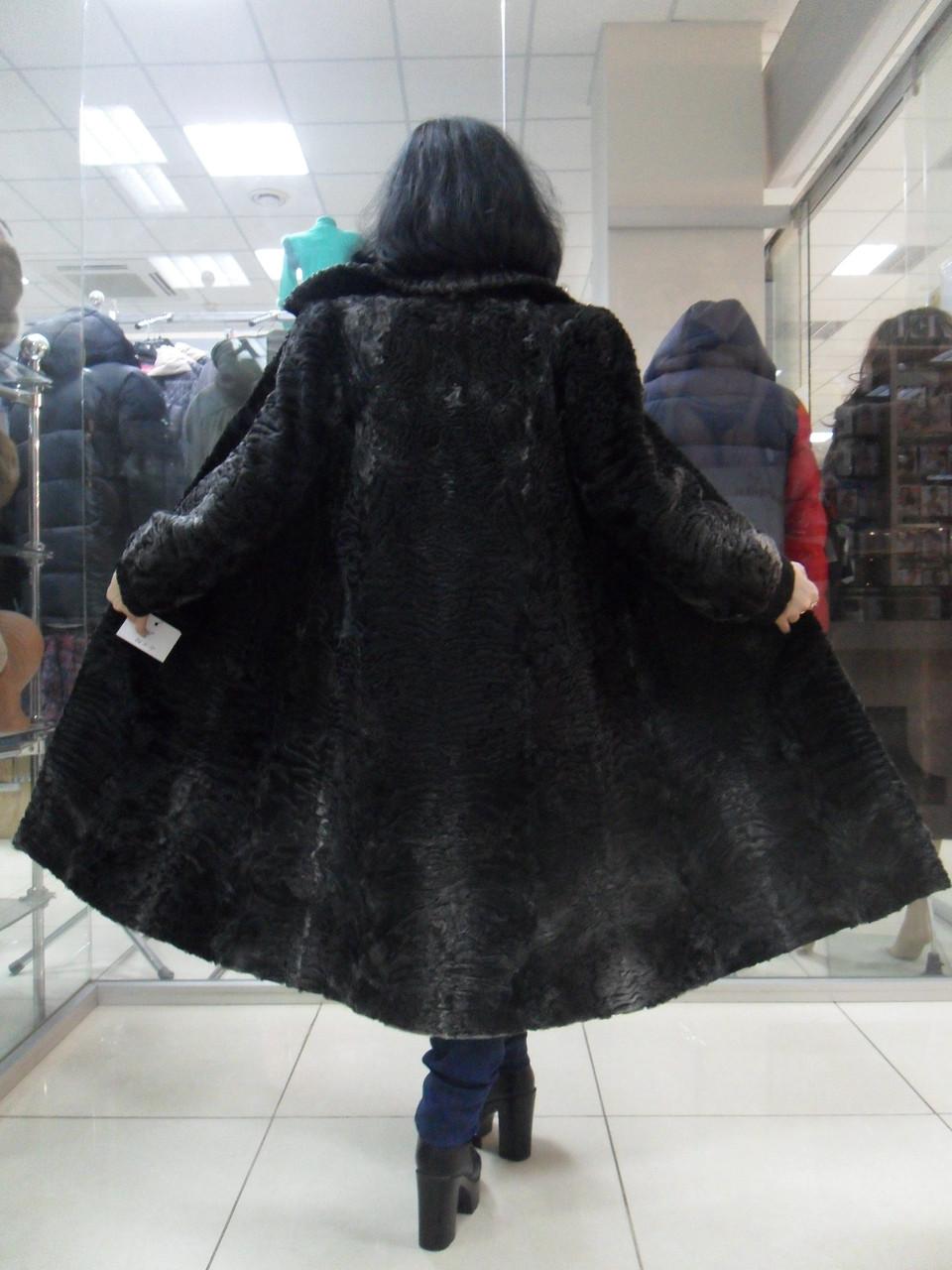 Каракульча черно-серая натуральная пальто из натуральной каракульчи 46 48 размер М Л в кредит