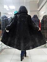 Каракульча черно-серая натуральная пальто из натуральной каракульчи 46 48 размер М Л в кредит, фото 1