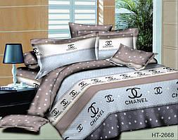 Комплект постельного белья полуторный с поликаттону HT2668
