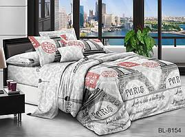 Комплект постельного белья полуторный с поликаттону BL8154
