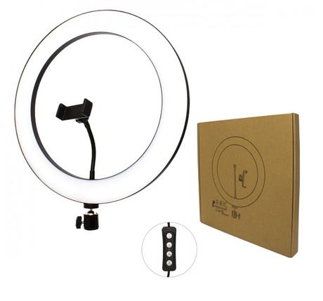 Лампа кольцевая для смартфона / Селфи кольцо / 10-дюймовая / 26 см, фото 2