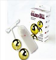 Вагинальные шарики Golden Balls с вибрацией от Baile