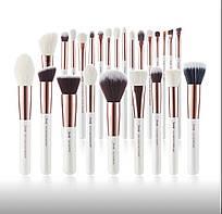 Кисті для макіяжу Professional Jessup Makeup Brushes Set Base White Rose gold 25 штук