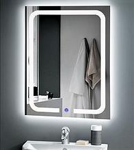 Зеркало DUSEL LED DE-M3001 65смх80см сенсорное включение+подогрев/часы+темп