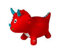 Детская резиновая надувная игрушка-прыгун динозавр Metr+ для детей от 1 года, красный
