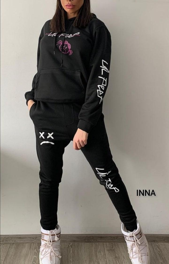 Спортивний костюм жіночий весняний чорного кольору 42-44 46-48 розміри Новинка 2021 є кольори