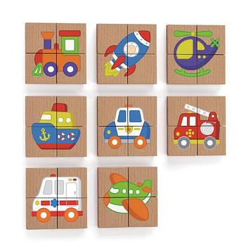 Магнитные пазлы Viga Toys Транспорт, 32 эл. (50723FSC)