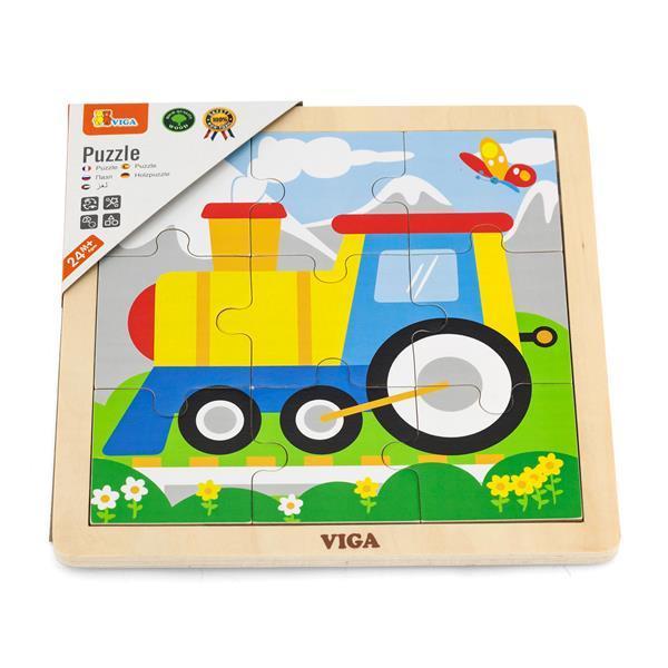 Деревянный пазл Viga Toys Паровозик, 9 эл. (51446)