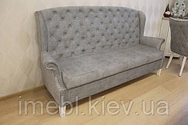 Кухонный диван с пуговицами (Серый)