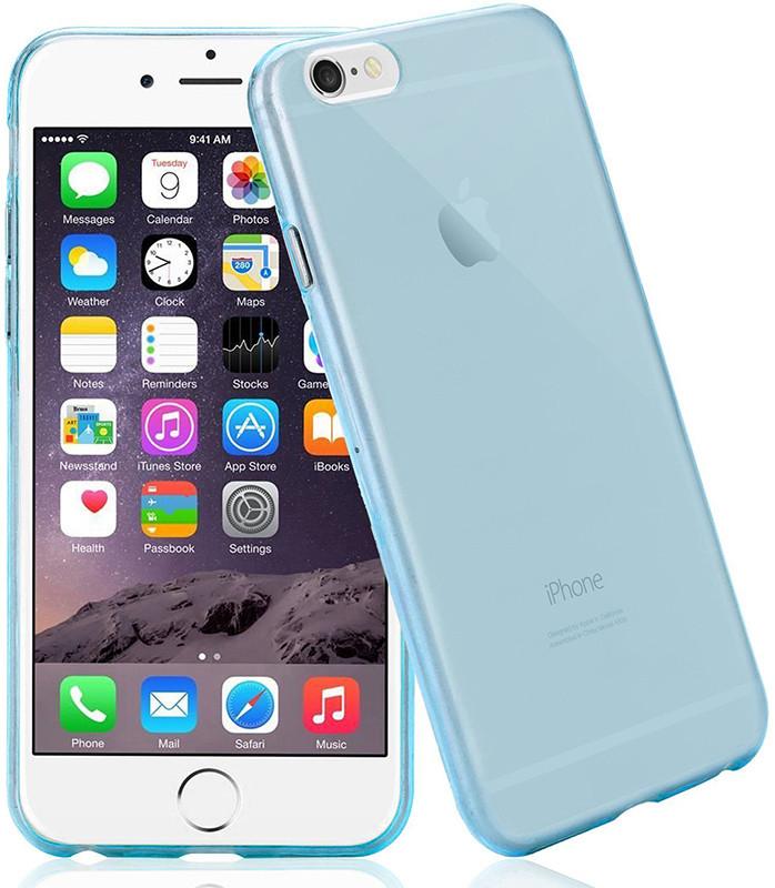 Чехол-накладка TOTO TPU case 0.2mm iPhone 6/6s Clear/Blue #I/S