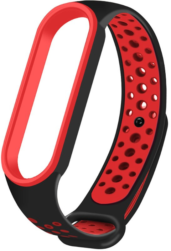 Ремешок UWatch Replacement Sports Strap for Mi Band 5 Black/Red #I/S
