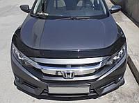 Honda Civic Sedan X 2016↗ гг. Дефлектор капота (EuroCap)