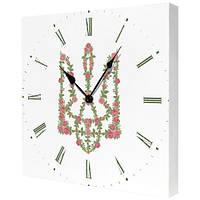 Настенные часы с цветочным тризубом, фото 1