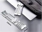 Подставка для ноутбука/MacBook складная ML02 Silver металл. Держатель универсальный для ноутбука/планшета, фото 9