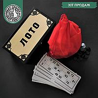 Русское лото настольная игра с бочонками Zelart в деревянной коробке для взрослых и детей(LOT-bck03)