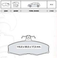 Тормозные колодки передние Skoda Felicia