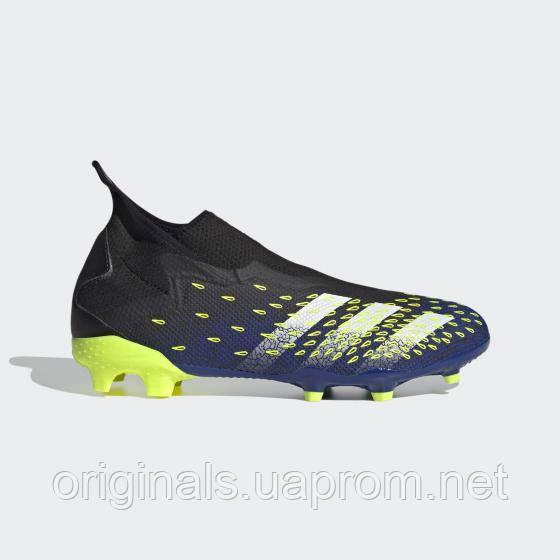 Футбольные бутсы adidas Predator Freak .3 Laceless FG. FY0617 2021