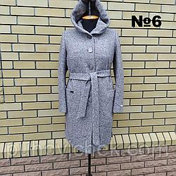 Женское пальто с капюшоном весна осень  размеры 50-58