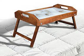 Столик для завтрака Цветы Яблони светлый орех (Микс-Мебель ТМ)