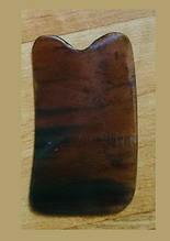 Скребок Гуаша рог буйвола пластина для выскребания болезней