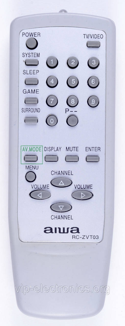 Пульт Aiwa  ZVT03 (TV) як оригінал