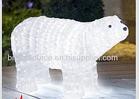 Светящиеся литой медведь, длина-99 см. Светодиодная фигура