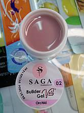 Гель для наращивания ногтей SAGA Builder Gel Veil № 2, 15 мл