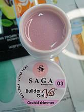Гель для наращивания ногтей SAGA Builder Gel Veil 03, 15 мл