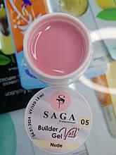 Гель для наращивания ногтей SAGA Builder Gel Veil № 05, 15 мл